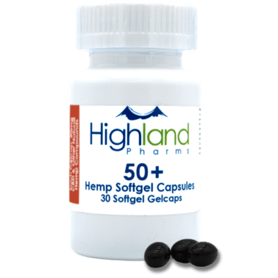 highland pharms 50mg cbd hemp oil gel caps