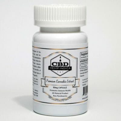 CBD Hemp Indica 50mg CBD Capsules - Powdered Hemp CBD