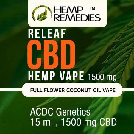 Hemp Remedies Hemp CBD Vape Oil 1500mg